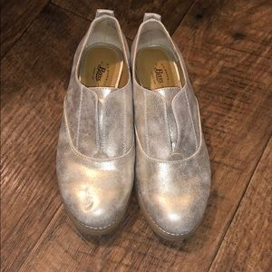 Never Worn Gold Loafers
